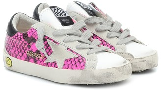 Golden Goose Kids Superstar snake-print sneakers