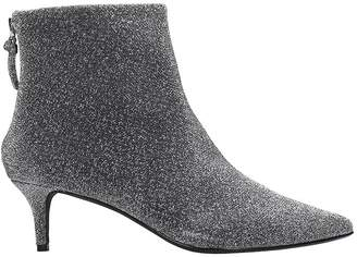 KENDALL + KYLIE Kara High Heels Ankle Boots In Silver Glitter