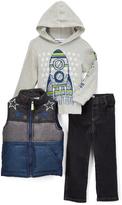 Kids Headquarters Blue Star Zip-Front Vest Set - Infant Toddler & Boys