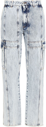 MM6 MAISON MARGIELA Paneled Distressed High-rise Straight-leg Jeans
