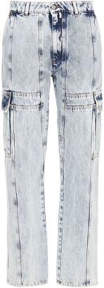 MM6 MAISON MARGIELA Paneled Distressed High-rise Straight-leg Jeans