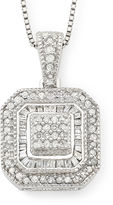 JCPenney FINE JEWELRY 1/3 CT. T.W. Diamond Vintage Frame Pendant Necklace