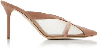 Malone Souliers Bobbi Leather And Mesh Mules