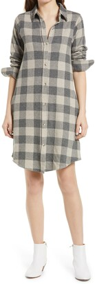Faherty Legend Check Long Sleeve Flannel Shirtdress