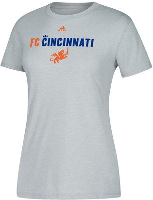 adidas Women's Heather Gray FC Cincinnati Wordmark Scarf T-Shirt