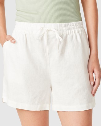 French Connection Women's Shorts - French Linen Relaxed Shorts - Size One Size, 16 at The Iconic