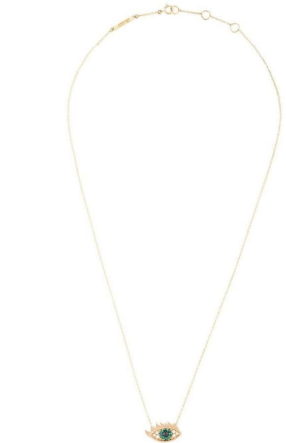 Delfina Delettrez 'Eyes on me' diamond and emerald necklace