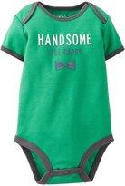 Carter's Slogan Bodysuit (Baby) - Green-Newborn