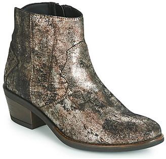 Elue par nous FLO women's Mid Boots in Brown