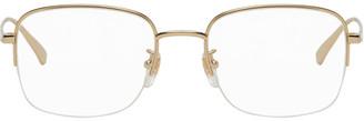 Gucci Gold Half-Rim Square Glasses