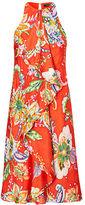 Ralph Lauren Ruffled Paisley-Print Dress