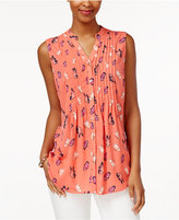 Charter Club Butterfly-Print Blouse, Only at Macy's