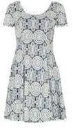 Dorothy Perkins Wo*izabel London Navy Floral Skater Dress- Navy