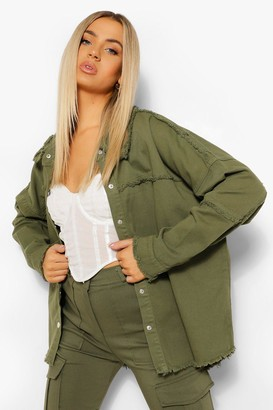 boohoo Outer Seam Detail jean jacket