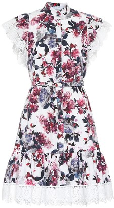 Erdem Lalique floral cotton minidress