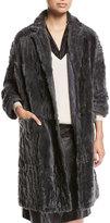 Brunello Cucinelli Animale Reversible Shearling Fur Coat
