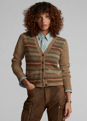 Ralph Lauren Fair Isle Wool Cardigan