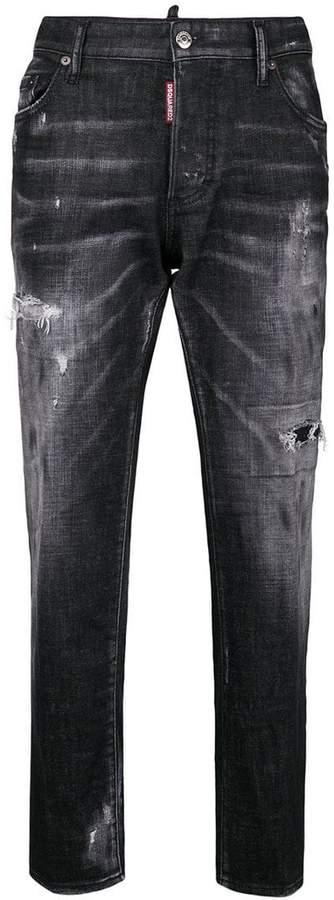 DSQUARED2 faded Boyfriend Jeans
