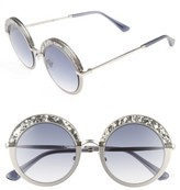 Jimmy Choo Women's Gotha/s 50Mm Round Sunglasses - Light Gold/ Semi Matte