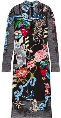 Temperley London Sail Embellished Embroidered Swiss-dot Tulle Dress