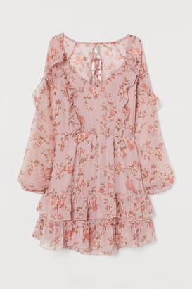 H&M Back-laced Dress - Pink