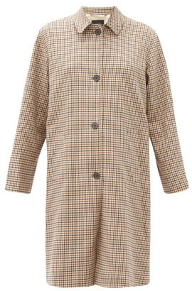 Nili Lotan Watson Single-breasted Checked Coat - Beige Multi