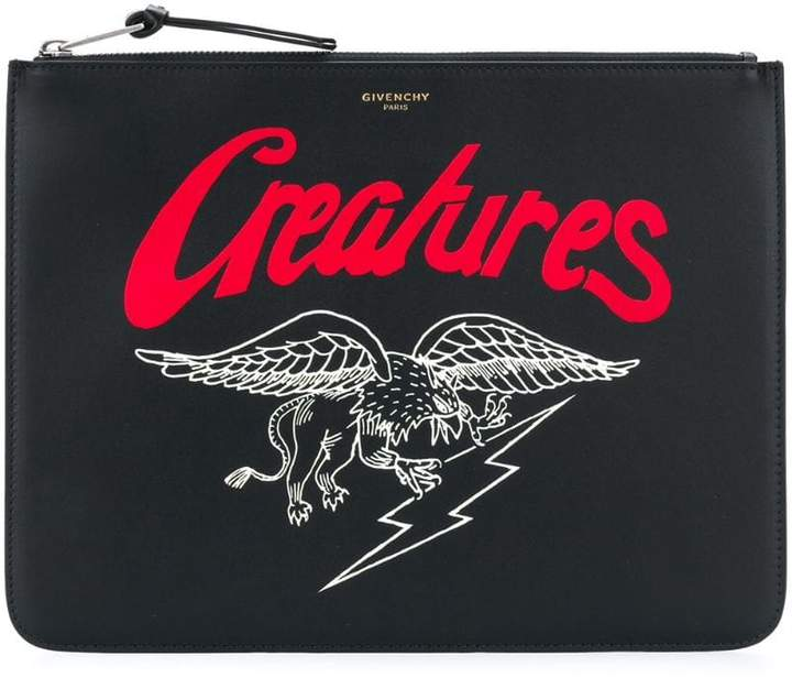 Givenchy Creatures print zipped pouch