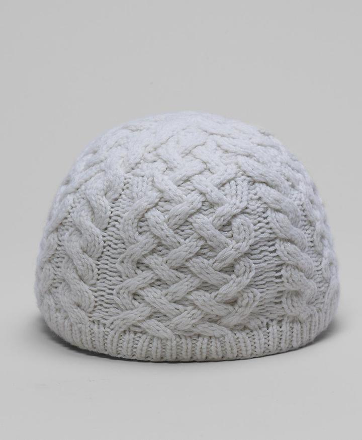 Brooks Brothers Cashmere/Wool Cable Beanie Hat