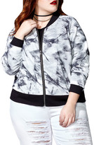 MBLM BY TESS HOLLIDAY Mesh Bomber Jacket (Plus Size)