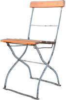 Rejuvenation Worn Wood and Metal Folding Chair c1925