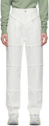 Ambush White High-Waisted Jeans