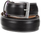Paul Smith Leather Silver-Tone Belt