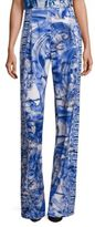 Versace Printed Wide-Leg Pants