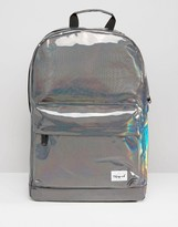 Spiral Metallic Backpack In Silver