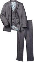 Isaac Mizrahi Three Piece Textured Suit (Toddler, Little Boys, & Big Boys)