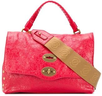 Zanellato cracked leather tote bag