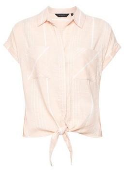 Dorothy Perkins Womens Apricot Stripe Print Short Sleeve Shirt