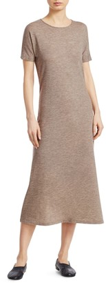 The Row Padma Stretch Cashmere Marled Midi Dress