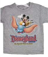 Disney Little Boys Grey Cartoon Disneyland Inspired Print T-Shirt