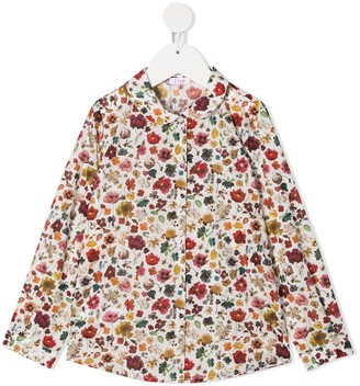 Il Gufo Floral-Print Cotton Shirt