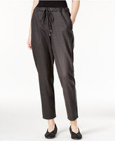 Eileen Fisher Wool Slouchy Ankle Pants