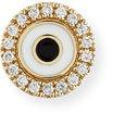 Sydney Evan Jewelry Enamel Evil Eye Diamond Disc Single Stud Earring