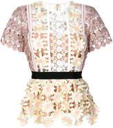 Self-Portrait floral lace blouse