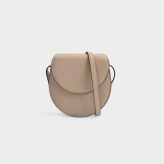 Hunting Season Saddle Bag In Beige Calfskin Leather