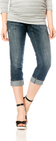 Motherhood Indigo Blue Secret Fit Belly Straight Leg Maternity Crop Jeans