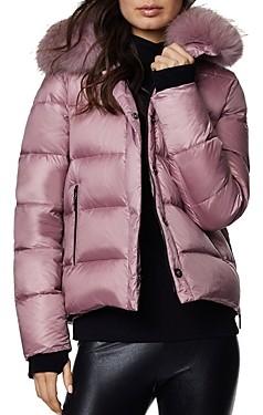 Dawn Levy Vera Fur Trim Short Puffer Coat