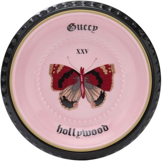 Gucci Butterfly Round Porcelain Valet Tray