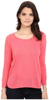 Calvin Klein Jeans 3/4 Sleeve Mixed Media Top