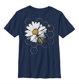 Fifth Sun Tee Shirts NAVY - Navy Flower & Bees Crewneck Tee - Kids