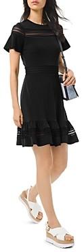 MICHAEL Michael Kors Mesh-Inset Printed Dress